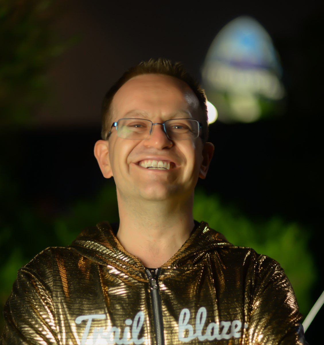 Picture of Paul Ginsberg wearing a Golden Hoodie